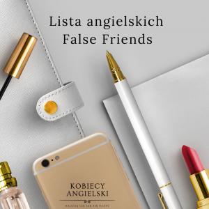 Lista angielskich False Friends